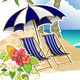 Umbrellas and Beach Chairs - GraphicRiver Item for Sale