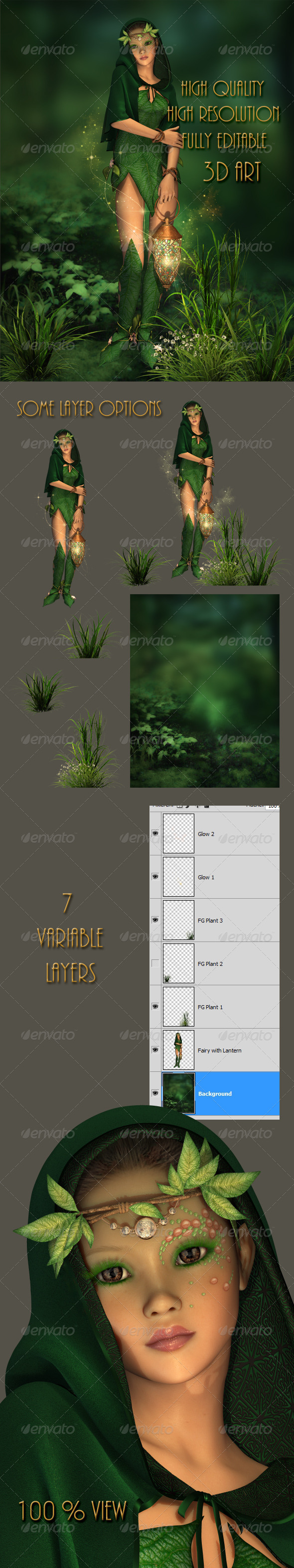 GraphicRiver Little Light in the Deep Forest 4746466