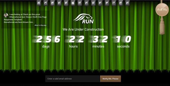 Run Coming Soon html5 Template
