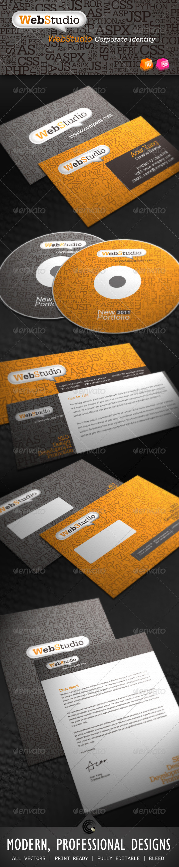 Web Studio Corporate Identity - Stationery Print Templates