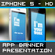 App Banner iPhone 5 Black White MockUp Real Photo - GraphicRiver Item for Sale
