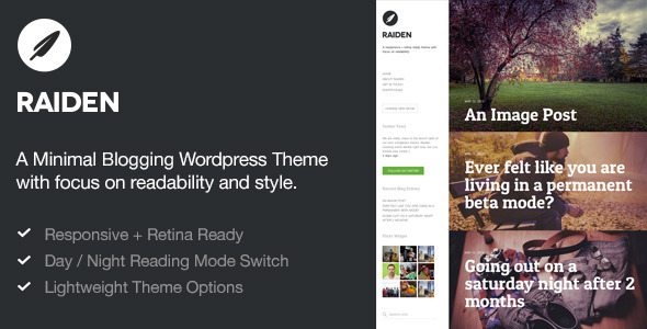 Raiden — A Minimal WordPress Theme with Style (Blog / Magazine) images