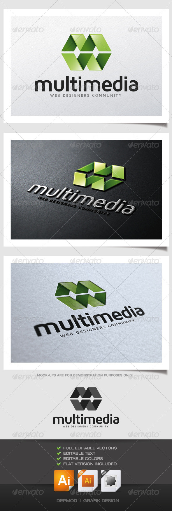 Multimedia Logo - Abstract Logo Templates