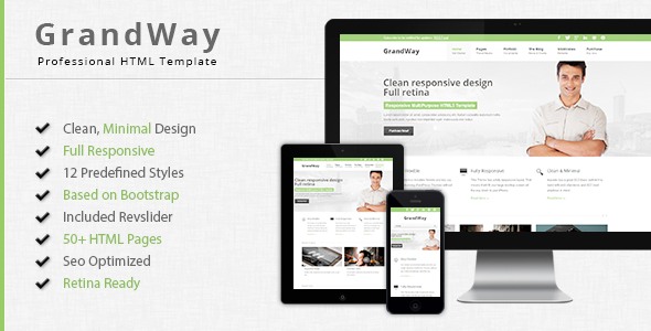 ThemeForest GrandWay Responsive HTML5 CSS3 Template 4723385