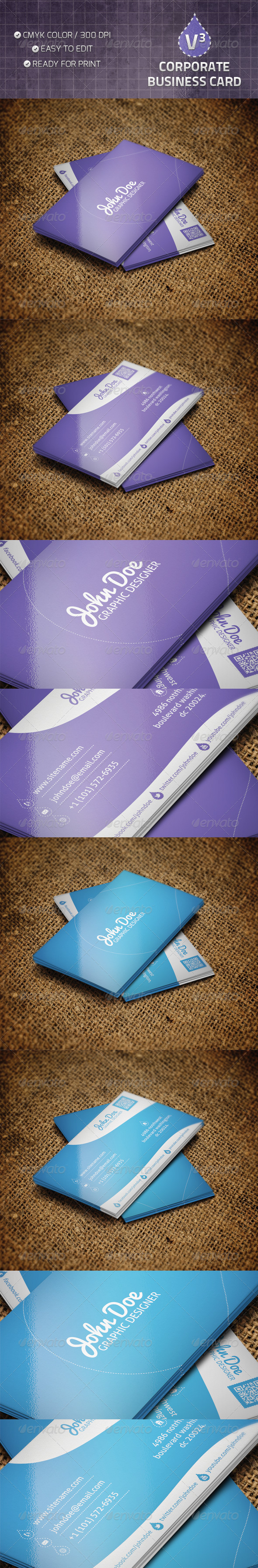 GraphicRiver Corporate Business Card V3 4746824