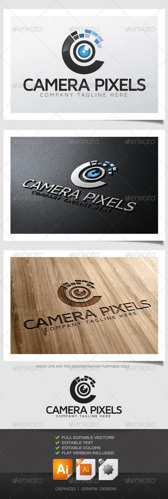 Camera Pixels - Symbols Logo Templates
