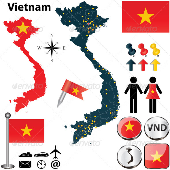 GraphicRiver Map of Vietnam 4746876