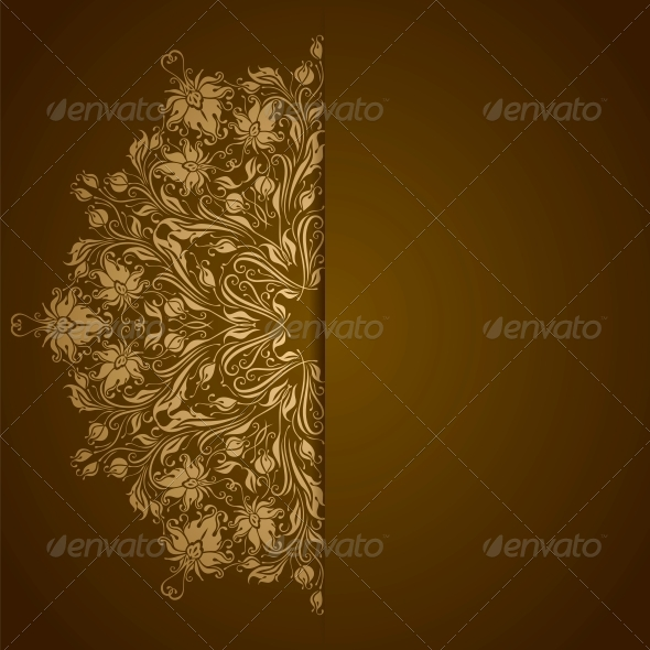 GraphicRiver Elegant Background with Lace Ornament 4746886
