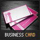 Pink corporate business card - GraphicRiver Item for Sale