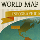 Vintage World Map with Ribbon & Tags