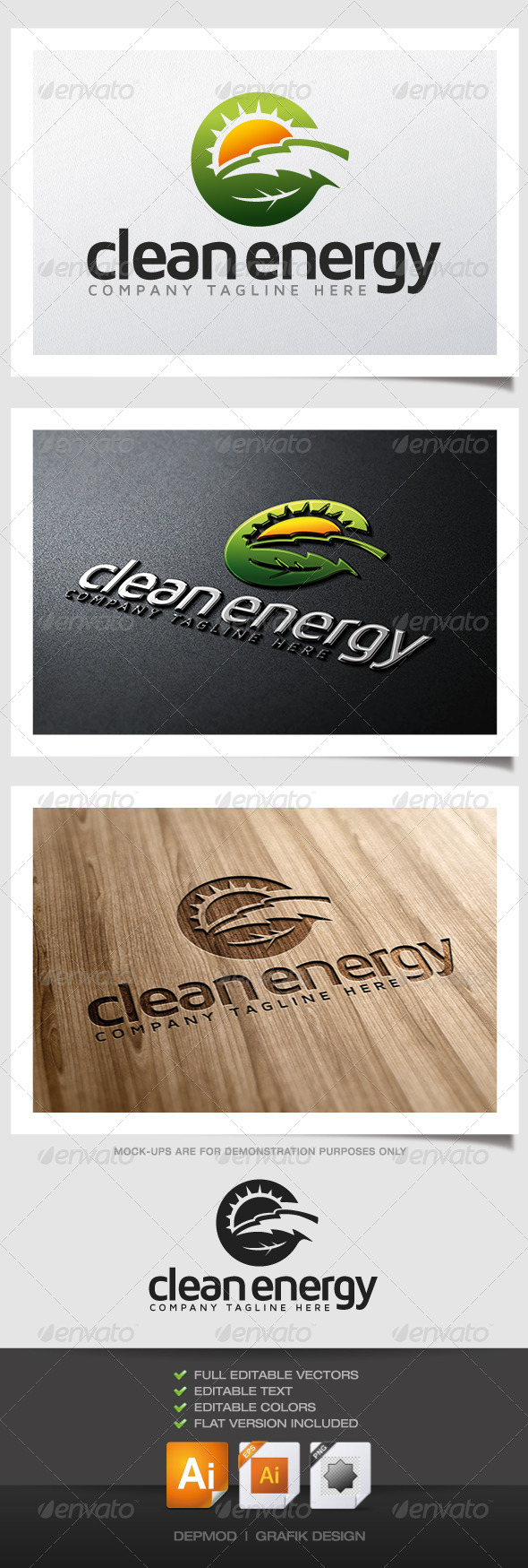 Clean Energy Logo - Nature Logo Templates