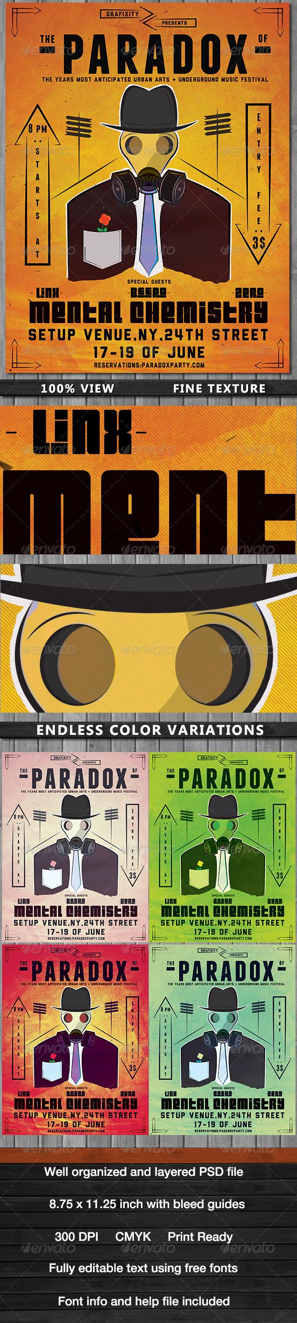 GraphicRiver Paradox-Urban Arts Party Flyer Poster 4676279