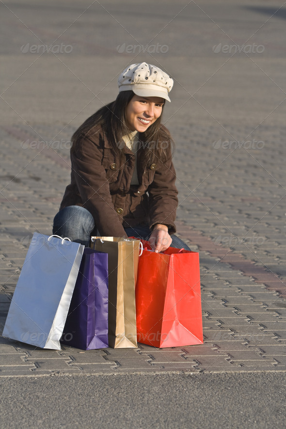 Joy of Shopping  - Stock Photo - Images