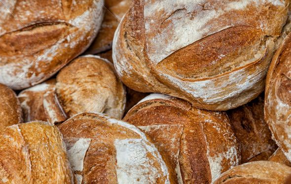 Heap f Breads - Stock Photo - Images