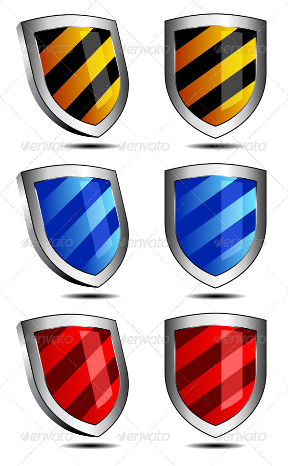GraphicRiver Six 3D and 2D Shields 4748028