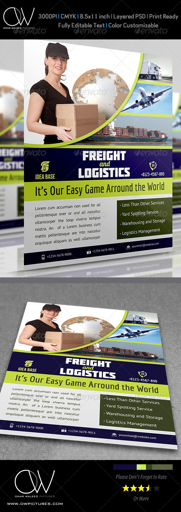 Freight / Shipment Services Flyer Vol.3 - Flyers Print Templates