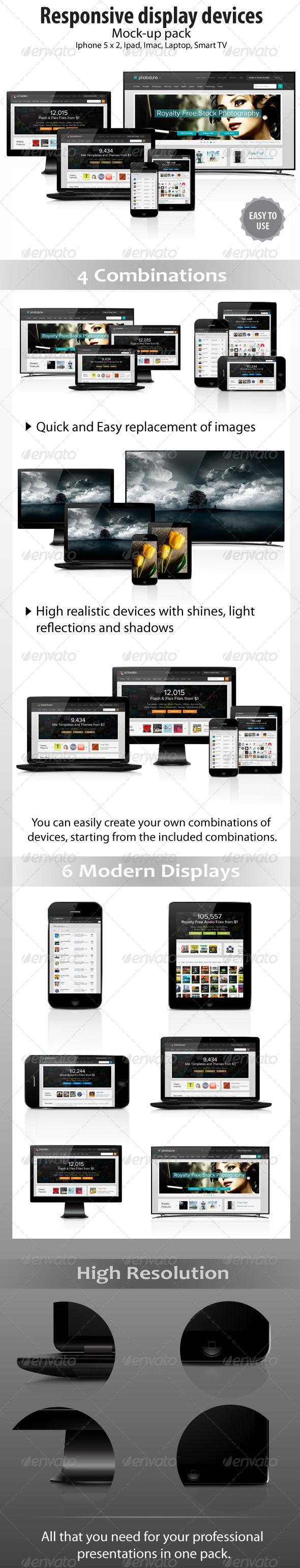 GraphicRiver Responsive Displays Mock-Ups 4666510
