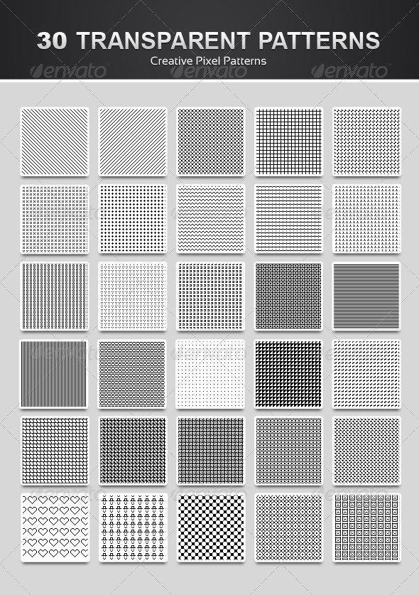 GraphicRiver 30 Pixel Patterns 4741024