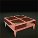 Realistic Glass and Wood Coffee Table - 3DOcean Item for Sale