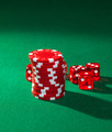 Red poker chips and red dice - PhotoDune Item for Sale