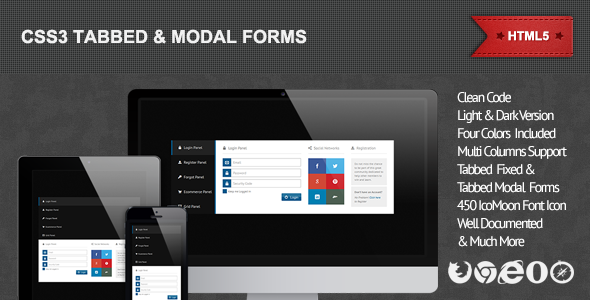 CodeCanyon CSS3 Tabbed & Modal Forms 4748593