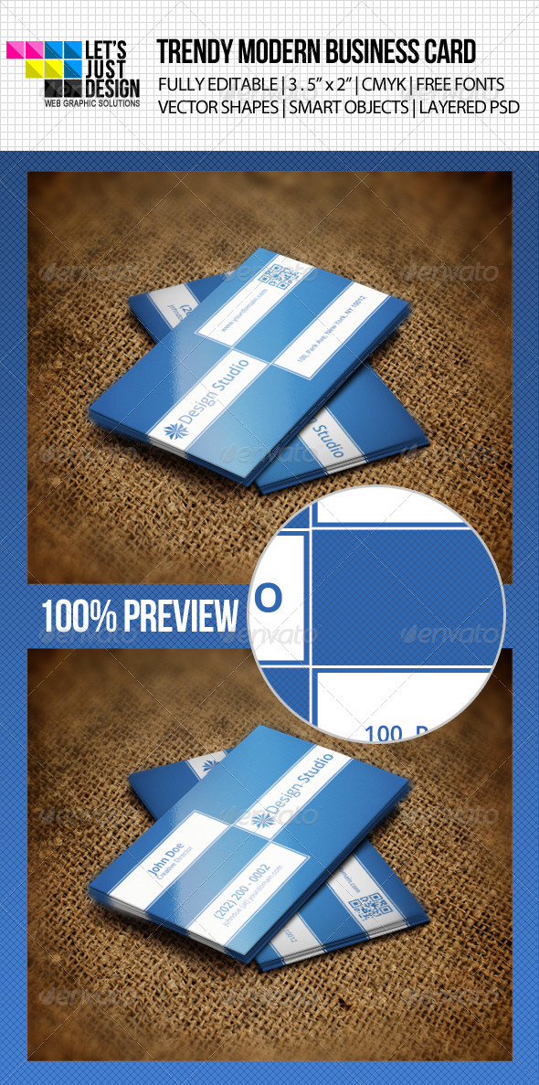 GraphicRiver Trendy Modern Business Card 4748654