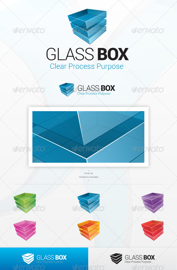 Glass Box Logo - 3d Abstract