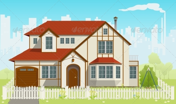 Family House Vector Illustration