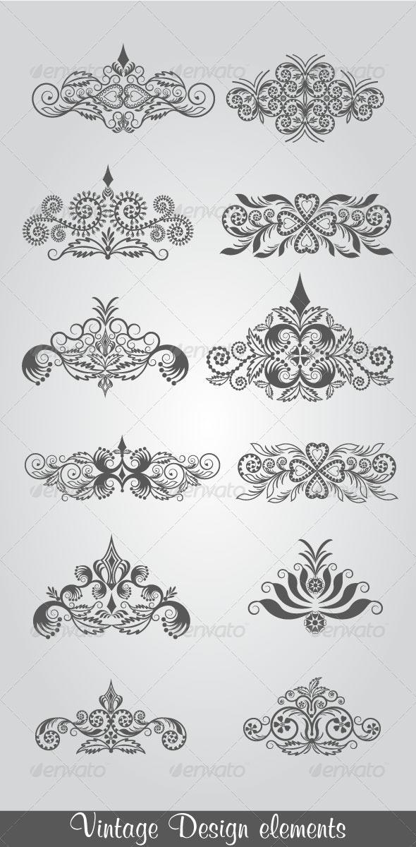 GraphicRiver Vintage Design Elements 4749341