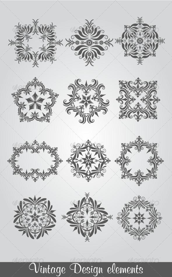 GraphicRiver Vintage Design Elements 4749354