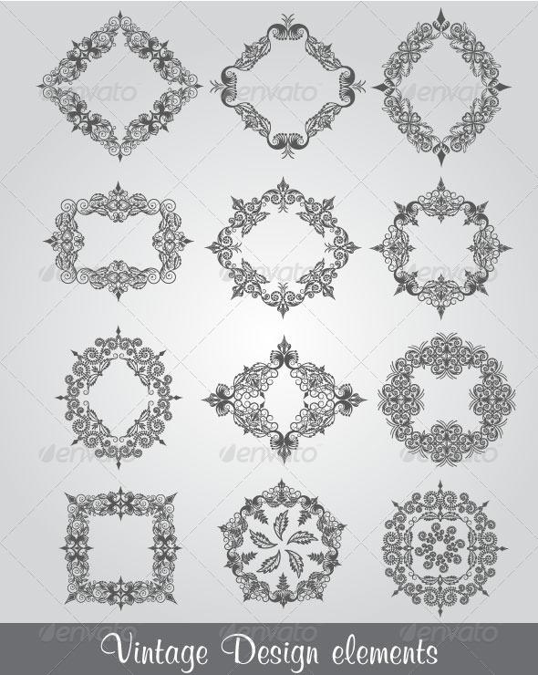 GraphicRiver Vintage Design Elements 4749412