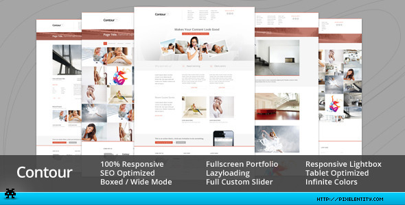 Contour - Minimal Portfolio & Corporate Template - Corporate Site Templates