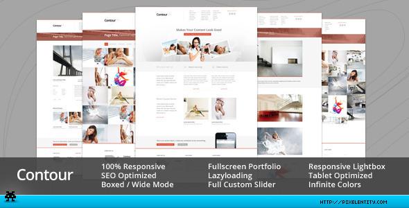 ThemeForest Contour Minimal Portfolio & Corporate Template 4750249