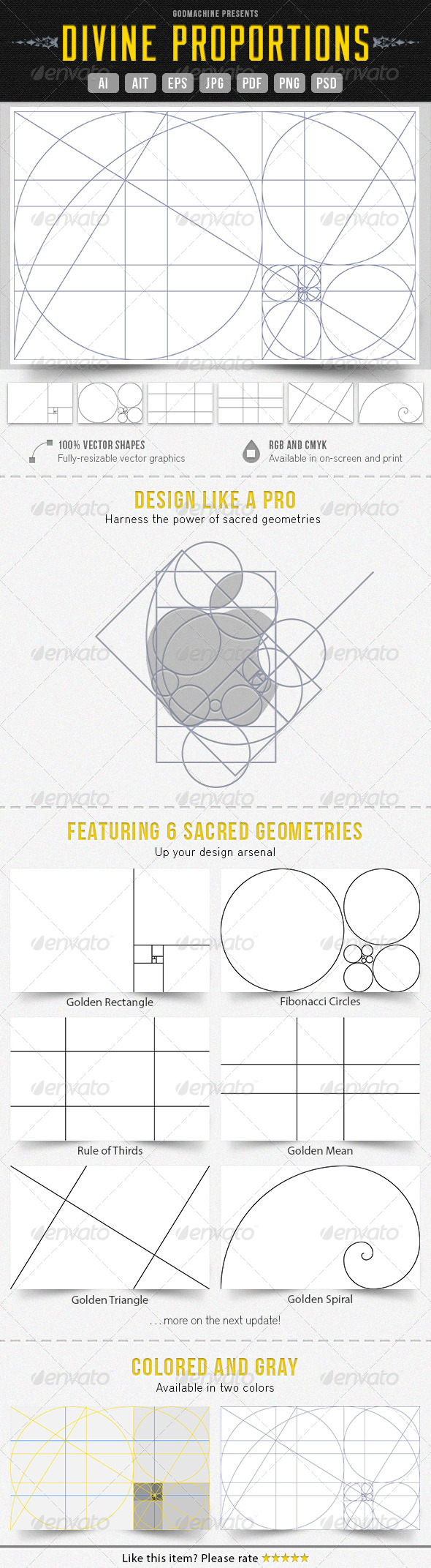 Divine Proportions - Miscellaneous Vectors