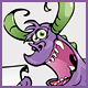 Purple Monster Character Holding a Sign - GraphicRiver Item for Sale