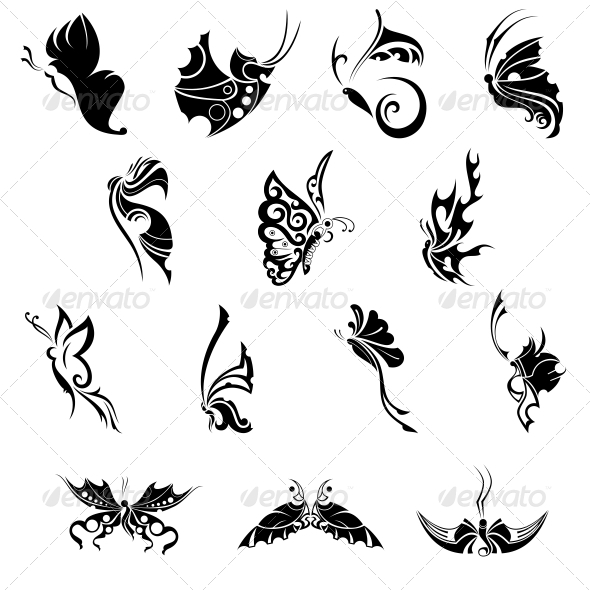 GraphicRiver Decorative Butterflies Vector Pack 4751104
