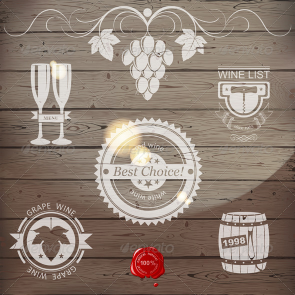 GraphicRiver Wine Emblems 4751186