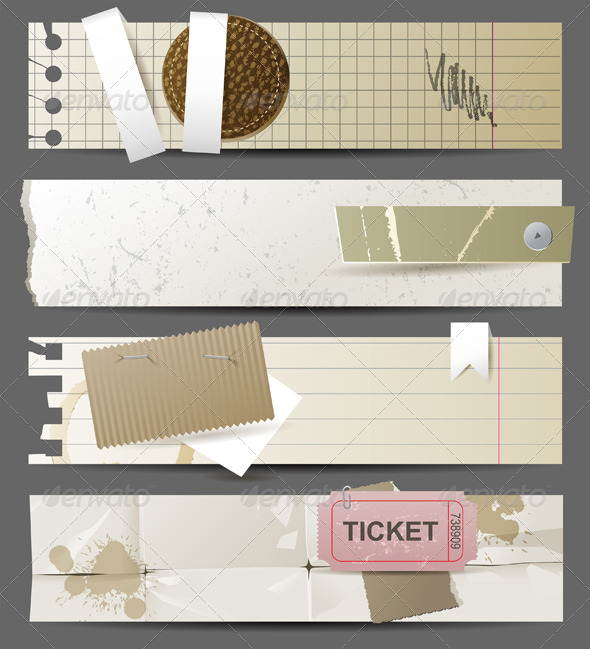 GraphicRiver Paper Banners 4751202