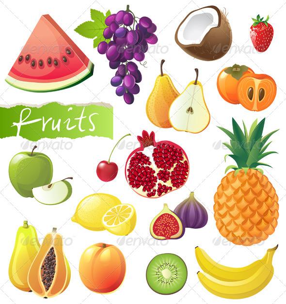 GraphicRiver Fruits Set 4751277