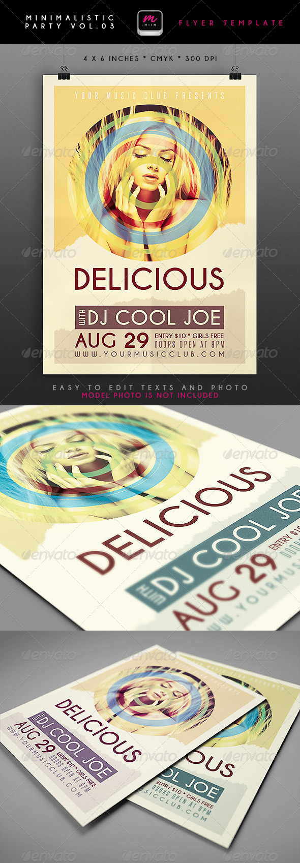 GraphicRiver Minimalistic Party Flyer 3 4751298