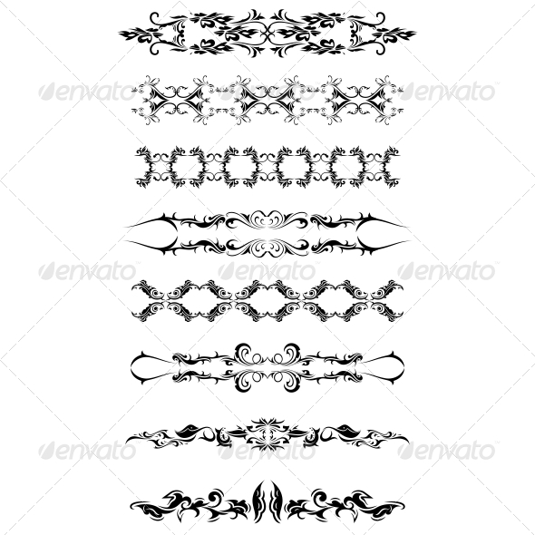 GraphicRiver Artistic Bands Vector Pack 4751329