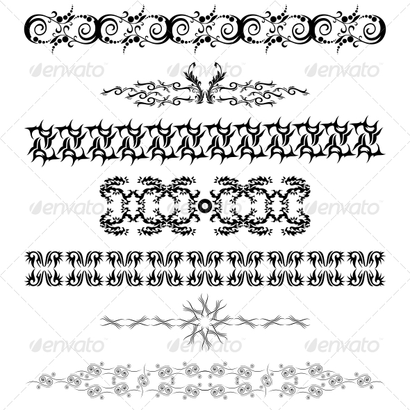 GraphicRiver Artistic Bands Vector Pack 4751339