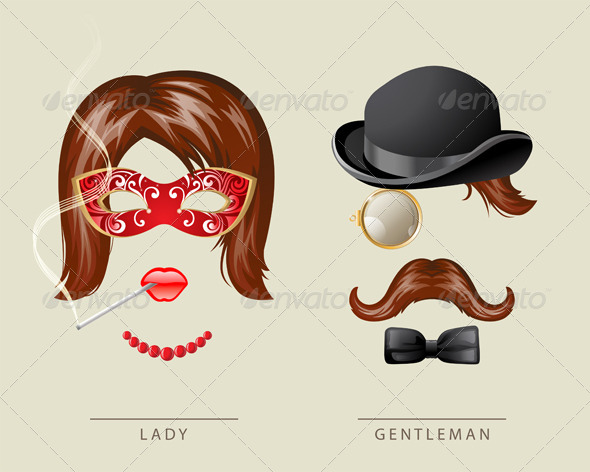 GraphicRiver Lady and Gentleman Fancy Dress 4751341