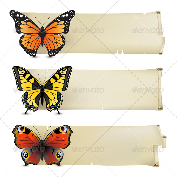 GraphicRiver Butterfly Banners 4751346