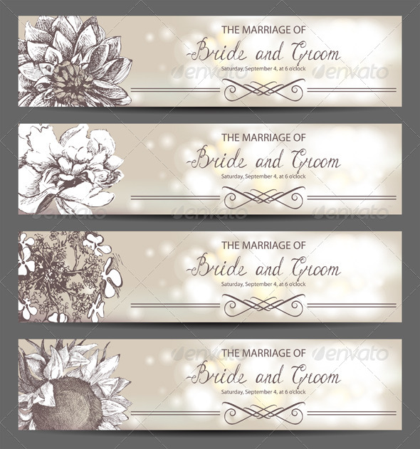 GraphicRiver Wedding Invitations 4744737