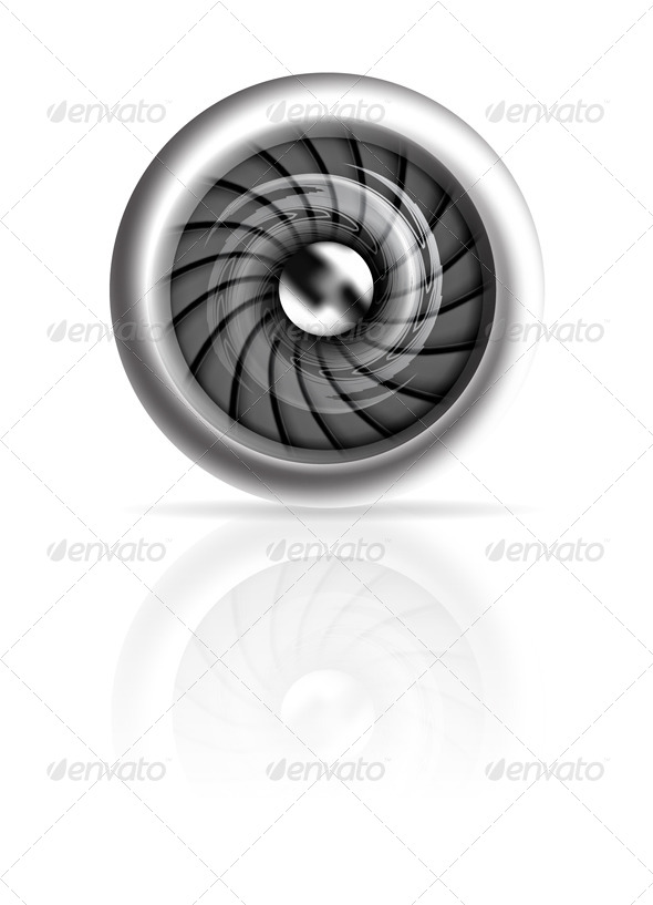 GraphicRiver Jet Engine Front View Isolated on white 4294894