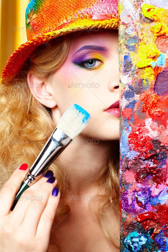 PhotoDune artist woman 498362