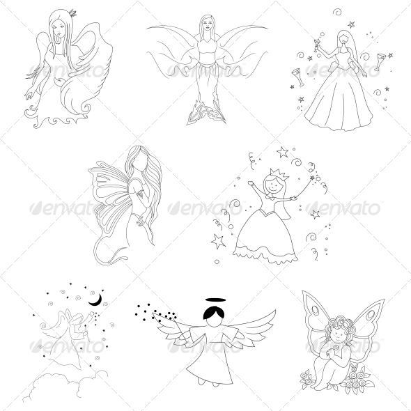 GraphicRiver Tribal Angel Abstract Designs 4751544