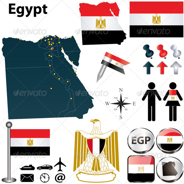 GraphicRiver Map of Egypt 4751562
