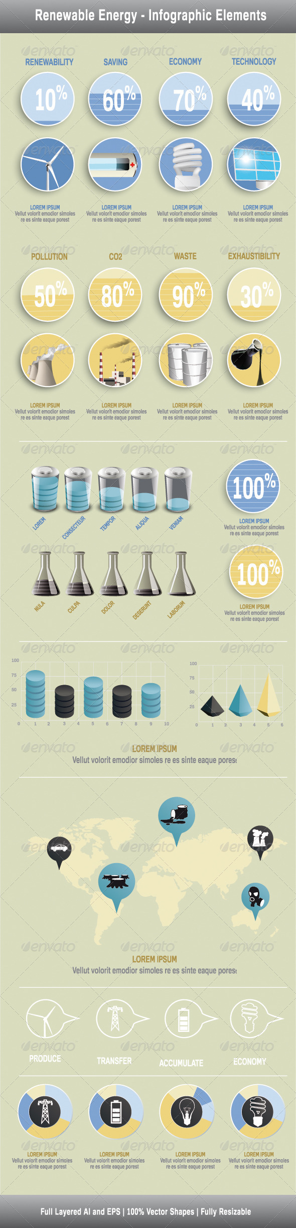 GraphicRiver Renewable Energy Infographics Elements 4751587